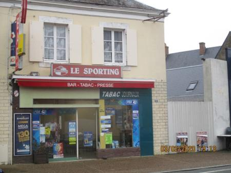 le sporting (Bar tabac presse fdj) 45m² - A VENDRE - 18 rue nationale - clermont-creans (72200)